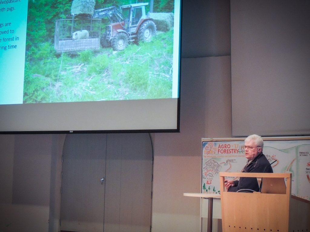 Kjell Sjelin, a Swedish agroforestry farmer.